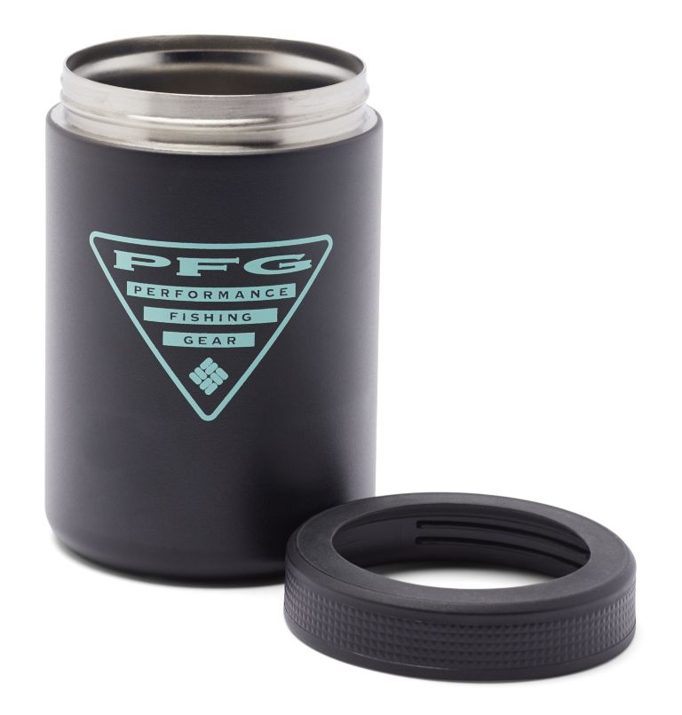 Double Wall Vacuum Can + Bottle Cozie PFG | 010 | O/S PFG Double-Wall Vacuum Can and Bottle Cozie, Black, a1