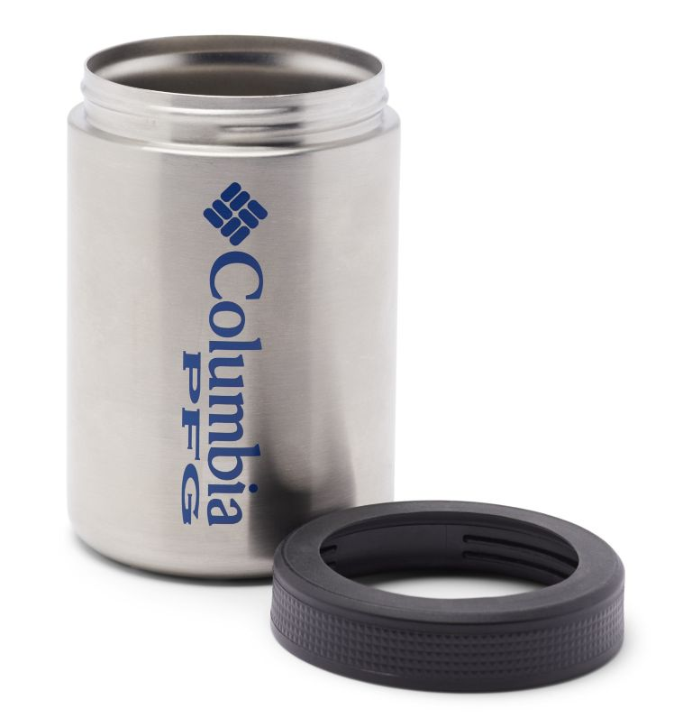 Double Wall Vacuum Can + Bottle Cozie PFG | 029 | O/S PFG Double-Wall Vacuum Can and Bottle Cozie, Stainless, a1