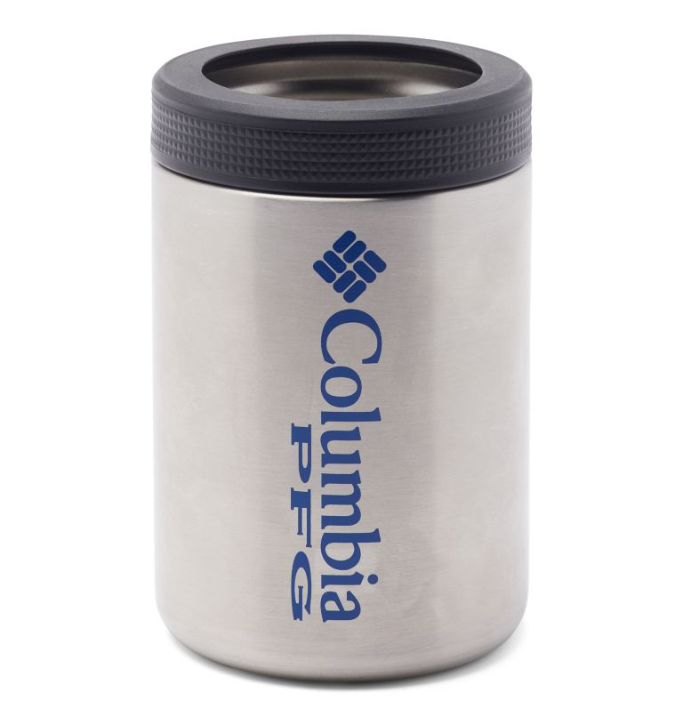 Double Wall Vacuum Can + Bottle Cozie PFG | 029 | O/S PFG Double-Wall Vacuum Can and Bottle Cozie, Stainless, front