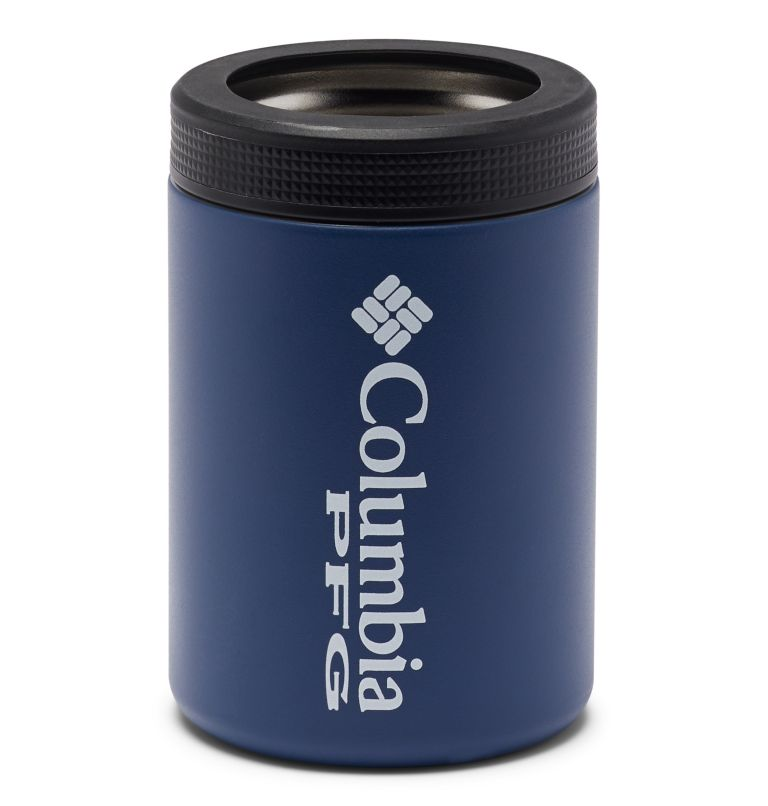 Double Wall Vacuum Can + Bottle Cozie PFG   469   O/S PFG Double-Wall Vacuum Can and Bottle Cozie, Carbon Stone, back