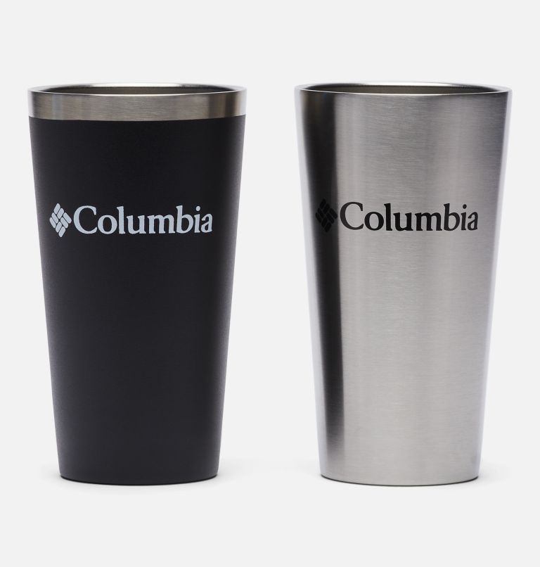 Double Wall Vacuum Pint Cup - 17 oz, 2 Pack   011   O/S Double Wall Vacuum Pint Cup - 17 oz, 2 Pack, Black, Stainless, back