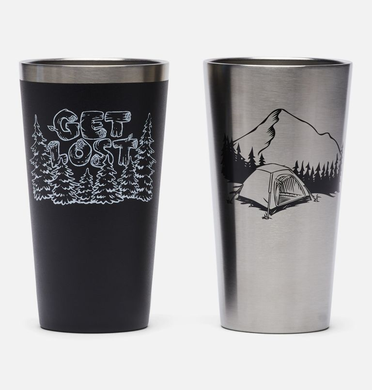 """2-Pack Columbia """"Get Lost"""" Double Wall Vacuum 17oz Pint Cups"""