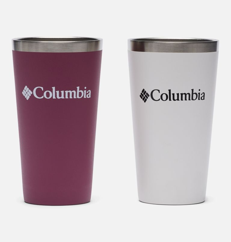 Double Wall Vacuum Pint Cup - 17 oz, 2 Pack | 550 | O/S Double Wall Vacuum Pint Cup - 17 oz, 2 Pack, White, Wineberry, back