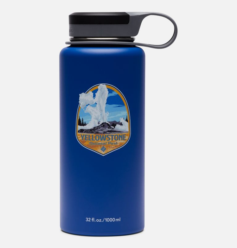 090497874628 | 437 | O/S Double-Wall National Parks Vacuum Bottle with Screw Top Lid 32oz, Yellow Stone Azul, front