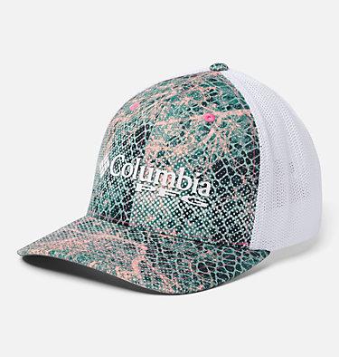 PFG Camo Mesh™ Ball Cap Camo Mesh™ Ball Cap | 426 | L/XL, Tiki Pink Real Tree Mako, front
