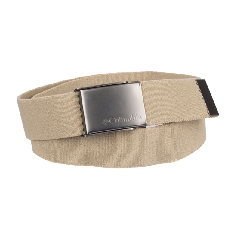 Men's Fabric Stretch Casual Belt | 340 | M Men's Fabric Stretch Casual Belt, Khaki, front