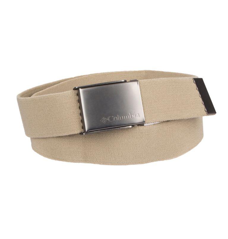 Men's Fabric Stretch Casual Belt | 340 | M Men's Fabric Stretch Casual Belt, Khaki, front