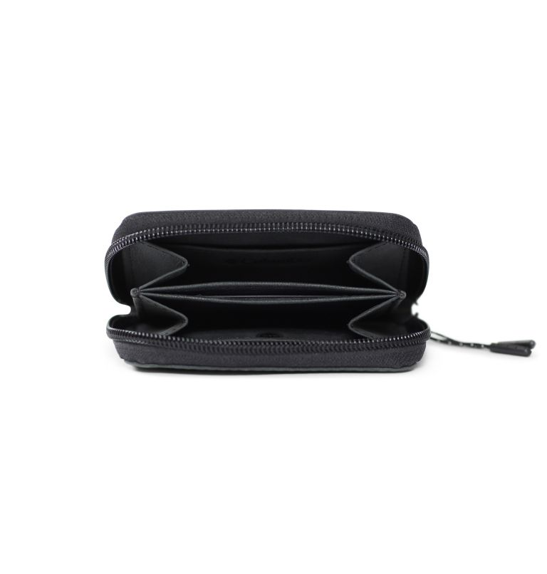 Zip Around wallet w/ patch | 001 | O/S Men's Zip Around Wallet with Patch Logo, Black, a1