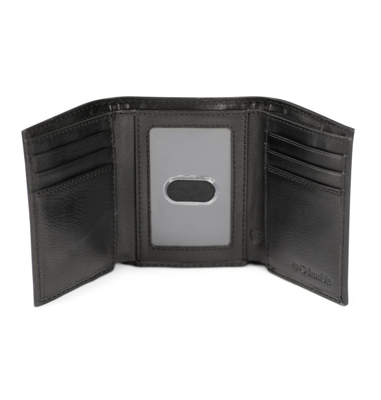 Trifold Wallet With Phone Wallet Adhesiv | 001 | O/S Men's Trifold with Adhesive Phone Wallet, Black, a1