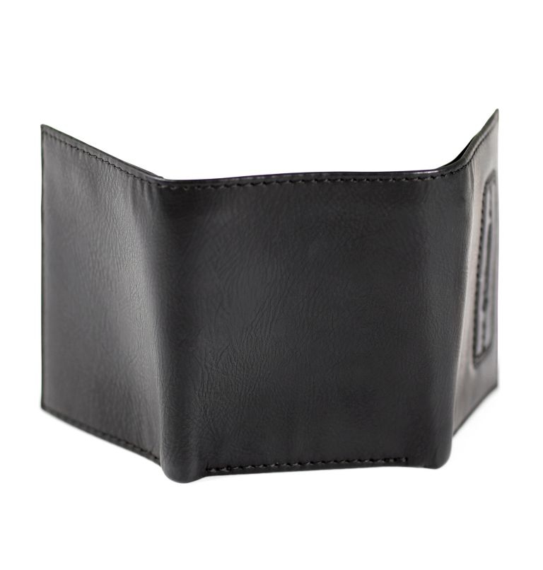 Trifold Wallet With Phone Wallet Adhesiv | 001 | O/S Men's Trifold with Adhesive Phone Wallet, Black, back
