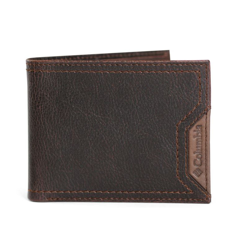 Slimfold Wallet With Phone Wallet Adhesi | 200 | O/S Men's Slim-fold with Adhesive Phone Wallet, Brown, front