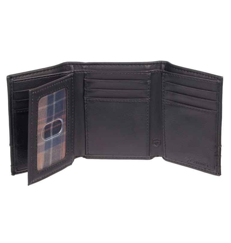 Men's Wallet Trifold RFID X-Ca | 001 | O/S Men's RFID Trifold  X-Capacity Wallet, Black, a1