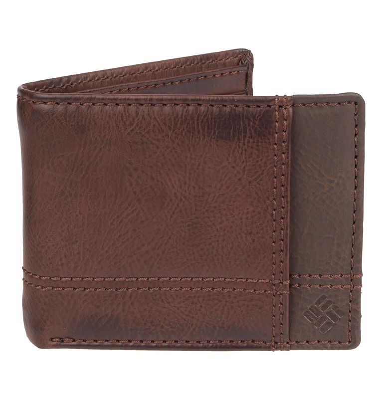 Men's Wallet Traveler RFID | 200 | O/S Men's RFID Traveler Wallet, Brown, front