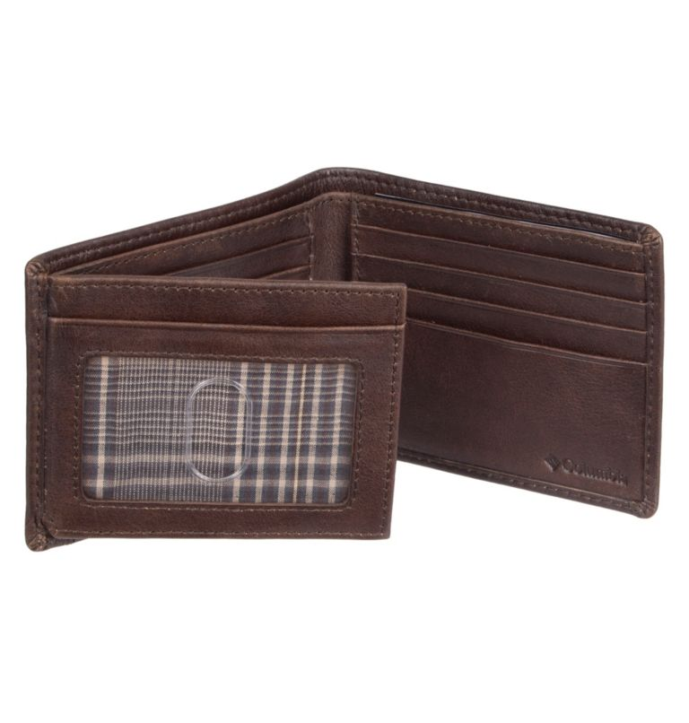 Men's Wallet RFID Pebbled Leat | 200 | O/S Men's Wallet RFID Pebbled Leather Wallet, Brown, a1