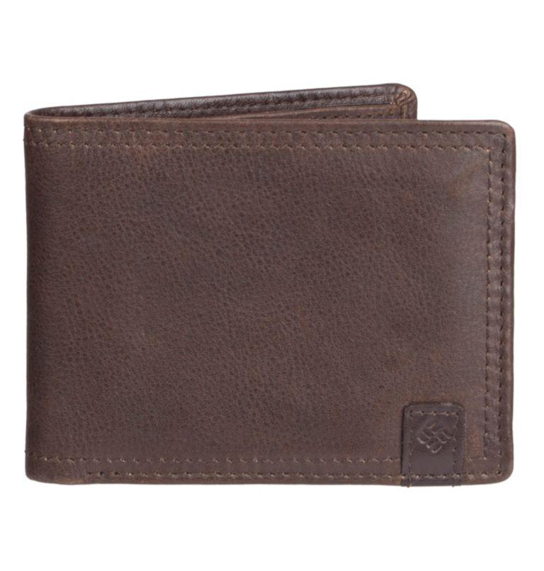 Men's Wallet RFID Pebbled Leat   200   O/S Men's Wallet RFID Pebbled Leather Wallet, Brown, front