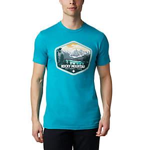 National Park Mountains Mens Sport Mesh T-Shirt