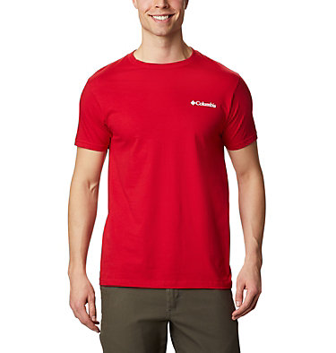 Men's Cliffed T-Shirt  Men's Cliffed T-Shirt Short Sleeve | 613 | S, Mountain Red, back
