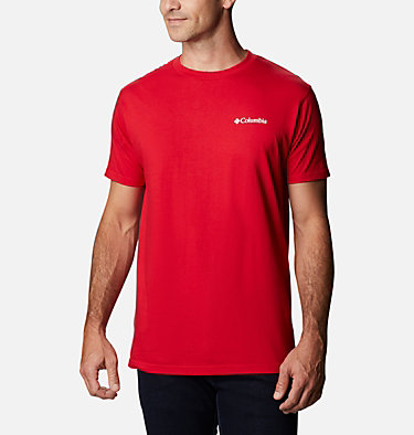 Men's Benic T-Shirt Men's Billt Graphic T-Shirt Short Sleeve | 314 | S, Mountain Red, back