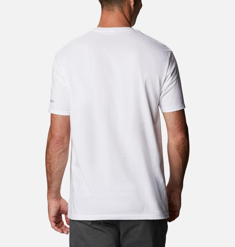 Men's Iconic Graphic T-Shirt Short Sleeve | 100 | M Men's Iconic T-Shirt, White, back