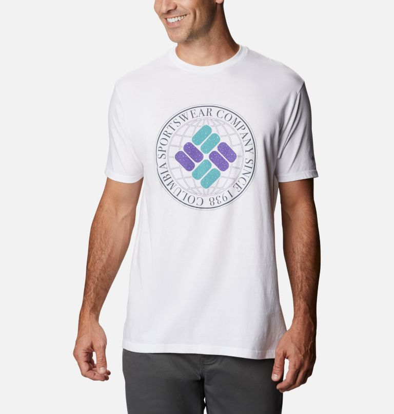 Men's Iconic Graphic T-Shirt Short Sleeve | 100 | M Men's Iconic T-Shirt, White, front