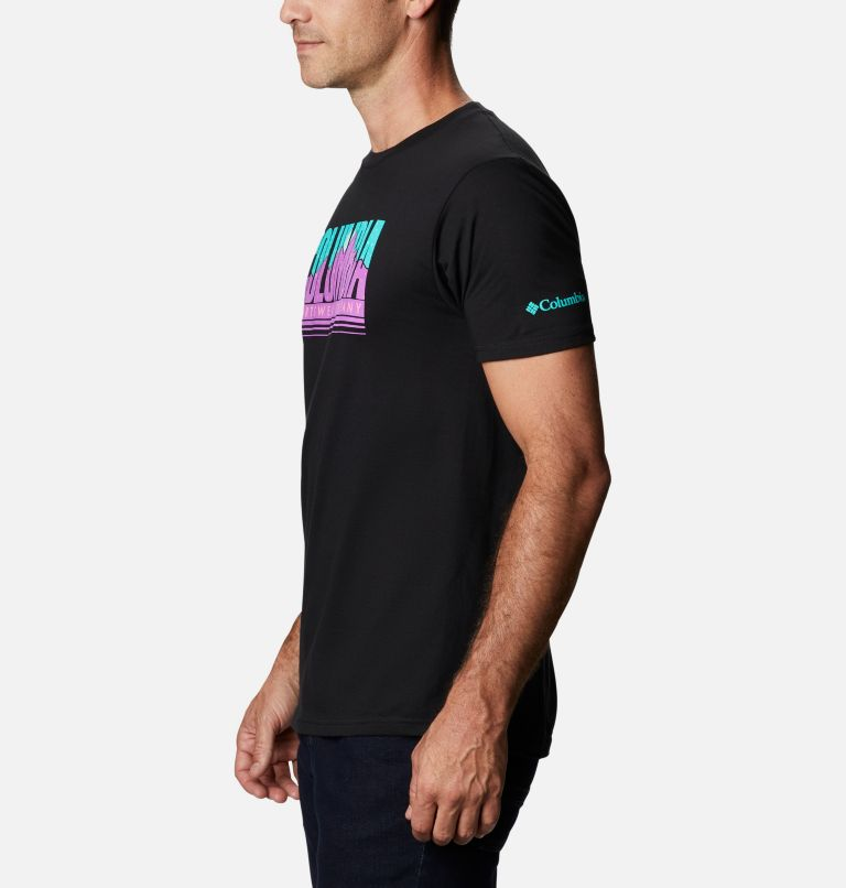 Men's Miles Graphic T-Shirt Short Sleeve   010   XL Men's Miles T-Shirt, Black, a1