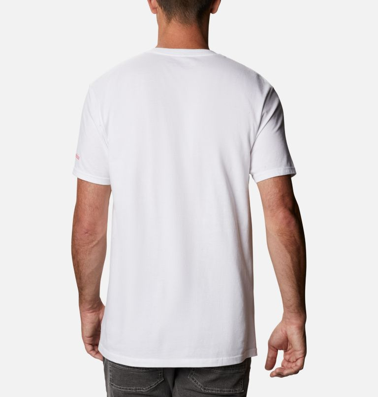 Men's Miles Graphic T-Shirt Short Sleeve   100   S Men's Miles T-Shirt, White, back
