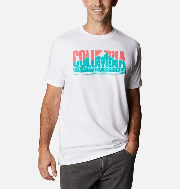 Men's Miles Graphic T-Shirt Short Sleeve   100   S Men's Miles T-Shirt, White, front