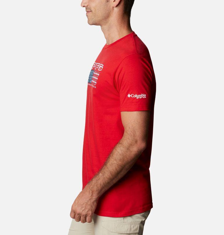 Men's PFG Cairy Graphic T-Shirt Short Sleeve | 696 | L Men's PFG Cairy T-Shirt, Red Sprak, a1