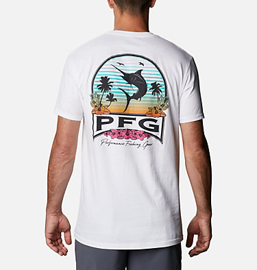Men's PFG Charter T-Shirt Men's PFG Charter Graphic T-Shirt Short Sleeve | 499 | S, White, front