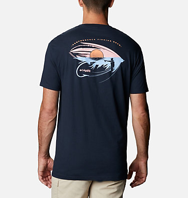 Men's PFG Perfly T-Shirt Men's PFG Perfly Graphic T-Shirt Short Sleeve | 546 | S, Columbia Navy, front