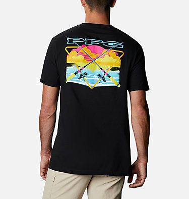 Men's PFG Seon T-Shirt Men's PFG Seon Graphic T-Shirt Short Sleeve | 010 | S, Black, front