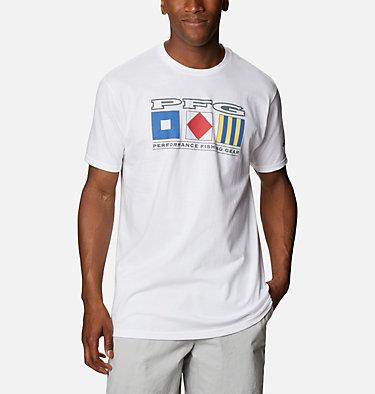Men's PFG Signal T-Shirt Men's PFG Signal Graphic T-Shirt Short Sleeve | 100 | S, White, front