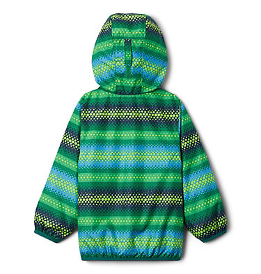 Toddler Mini Pixel Grabber™ II Wind Jacket Mini Pixel Grabber™ II Wind Jacket | 481 | 2T, True Green Bubble Stripes, back