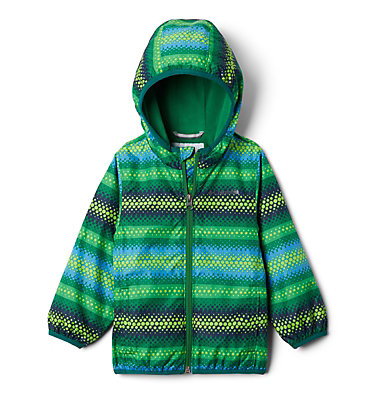 Toddler Mini Pixel Grabber™ II Wind Jacket Mini Pixel Grabber™ II Wind Jacket | 481 | 2T, True Green Bubble Stripes, front