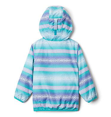 Toddler Mini Pixel Grabber™ II Wind Jacket Mini Pixel Grabber™ II Wind Jacket | 378 | 2T, Bright Aqua Bubble Stripes, back