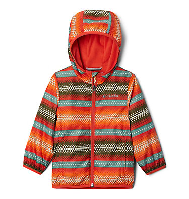 Toddler Mini Pixel Grabber™ II Wind Jacket Mini Pixel Grabber™ II Wind Jacket | 481 | 2T, Wildfire Bubble Stripes, front