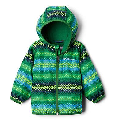 Infant Mini Pixel Grabber™ II Wind Jacket Mini Pixel Grabber™ II Wind Jacket   362   12/18, True Green Bubble Stripes, front