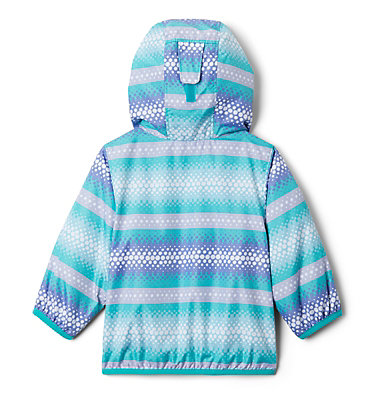 Infant Mini Pixel Grabber™ II Wind Jacket Mini Pixel Grabber™ II Wind Jacket | 454 | 0/3, Bright Aqua Bubble Stripes, back