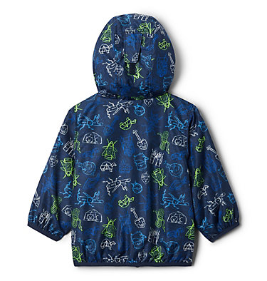 Infant Mini Pixel Grabber™ II Wind Jacket Mini Pixel Grabber™ II Wind Jacket | 362 | 12/18, Collegiate Navy Camp Creatures, back