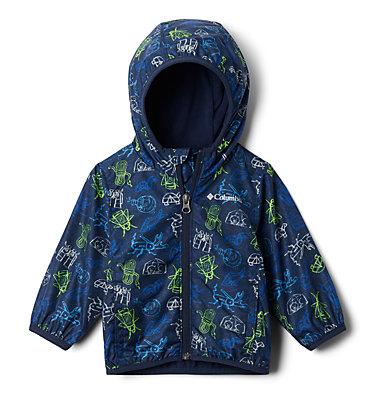 Infant Mini Pixel Grabber™ II Wind Jacket Mini Pixel Grabber™ II Wind Jacket | 362 | 12/18, Collegiate Navy Camp Creatures, front
