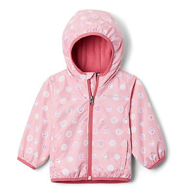 Infant Mini Pixel Grabber™ II Wind Jacket Mini Pixel Grabber™ II Wind Jacket | 454 | 0/3, Pink Orchid Polka Pets, front