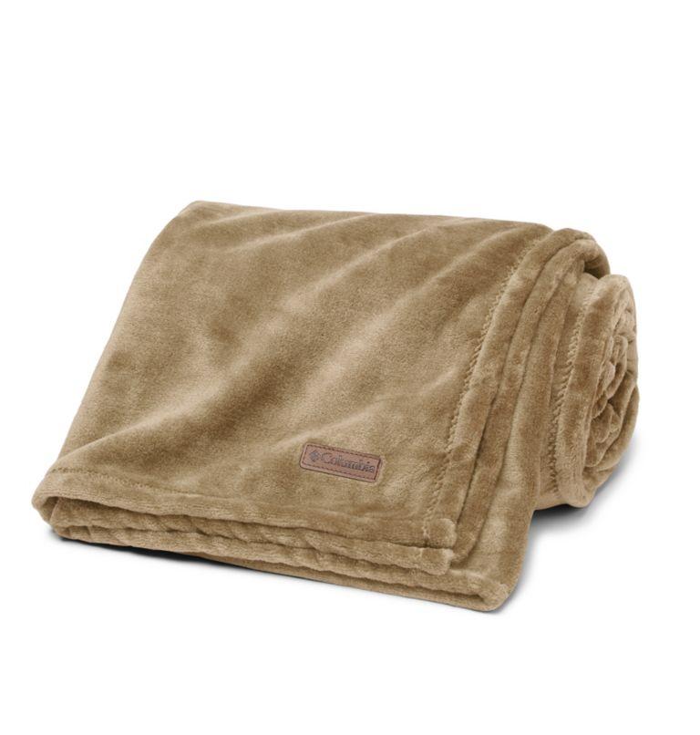 Columbia Plush Throw | 214 | O/S Plush Throw Blanket, Beach, front