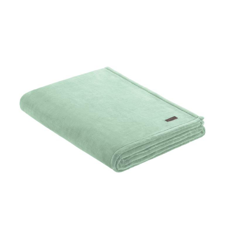 Columbia Plush Throw   335   O/S Plush Throw Blanket, Cool Green, front