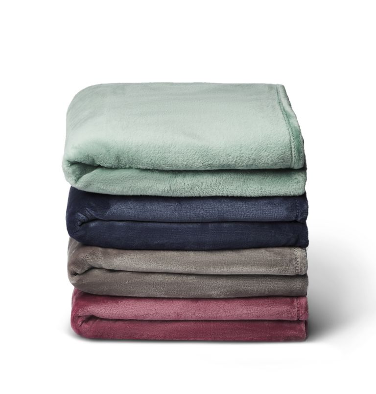 Columbia Plush Throw | 351 | NONE Plush Throw Blanket, Dusty Green, a2