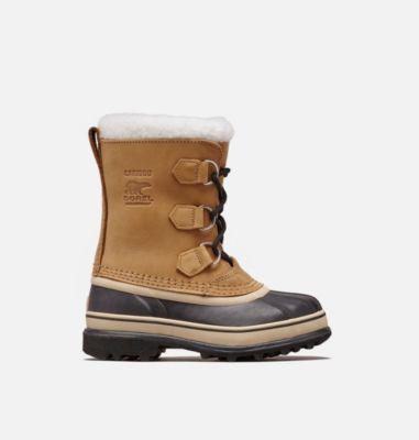 Sorel Youth Caribou  Boot, Size 2, Buff