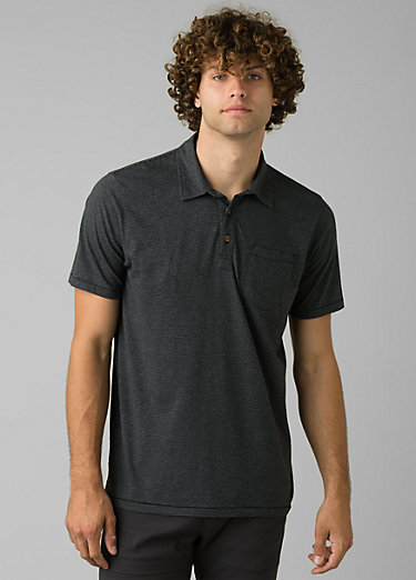 prAna Polo prAna Polo, Black Stripe