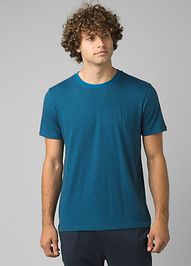 prAna Crew T-Shirt prAna Crew T-Shirt, Admiral Heather Stripe