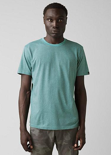 prAna Crew T-Shirt prAna Crew T-Shirt, Azurite Stripe