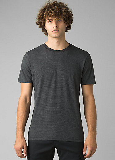 prAna Crew T-Shirt prAna Crew T-Shirt, Black Stripe