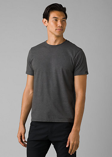 prAna Crew T-Shirt prAna Crew T-Shirt, Charcoal Heather